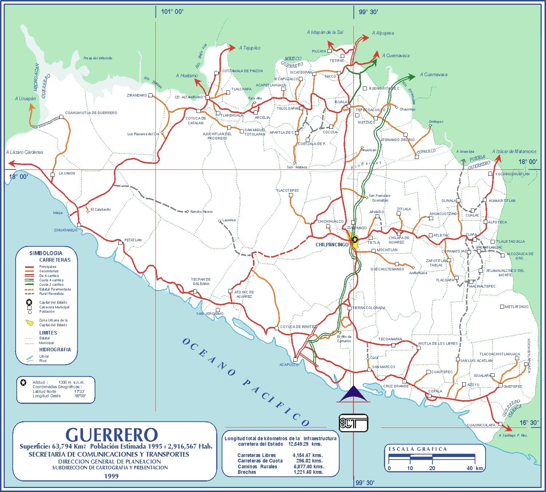 descargar mapas de carreteras de mexico gratis