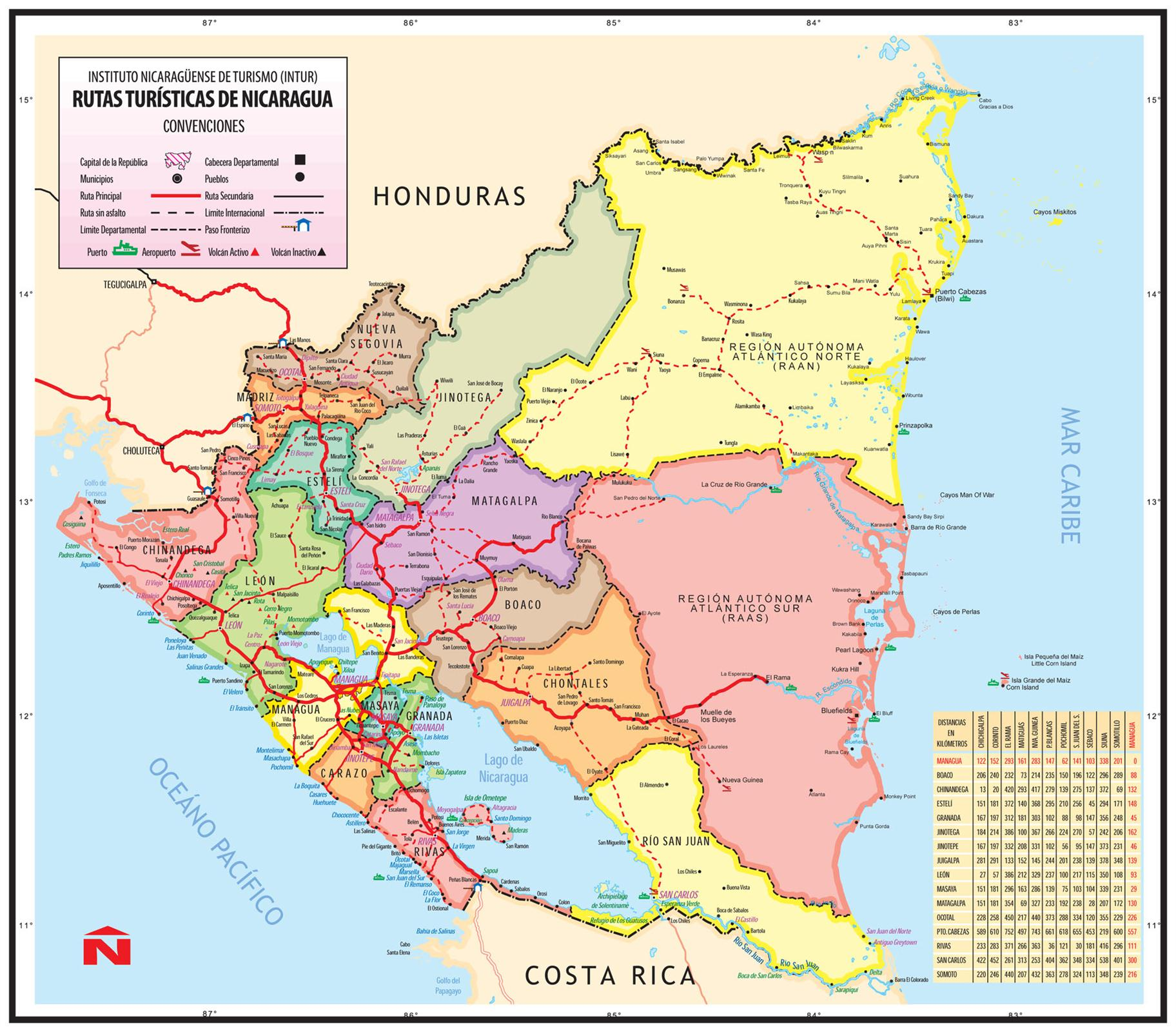 nicaragua political map cities with P161 Nicaragua on Caribbean Conflict And Music A Story Of Difference And Unity In Haiti And The Dominican Republic besides Map Of blogspot additionally Loadmap besides Map Of Honduras With Major Cities as well El Salvador.
