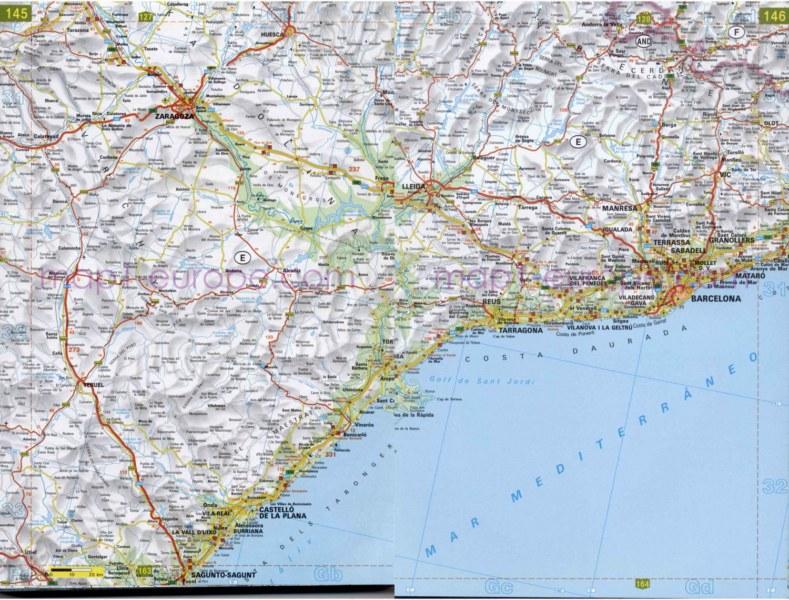 Mapa De Carreteras De Castellon Mapacarreteras Org
