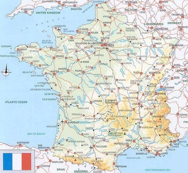 Mapa De Carreteras De Francia Mapacarreteras Org