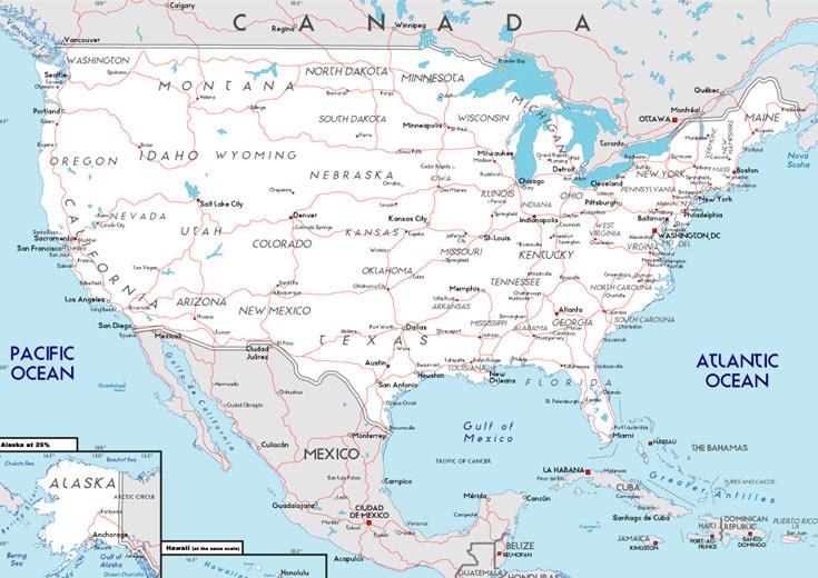 Mapa De Carreteras En Estados Unidos MapaCarreterasorg - Mapas usa