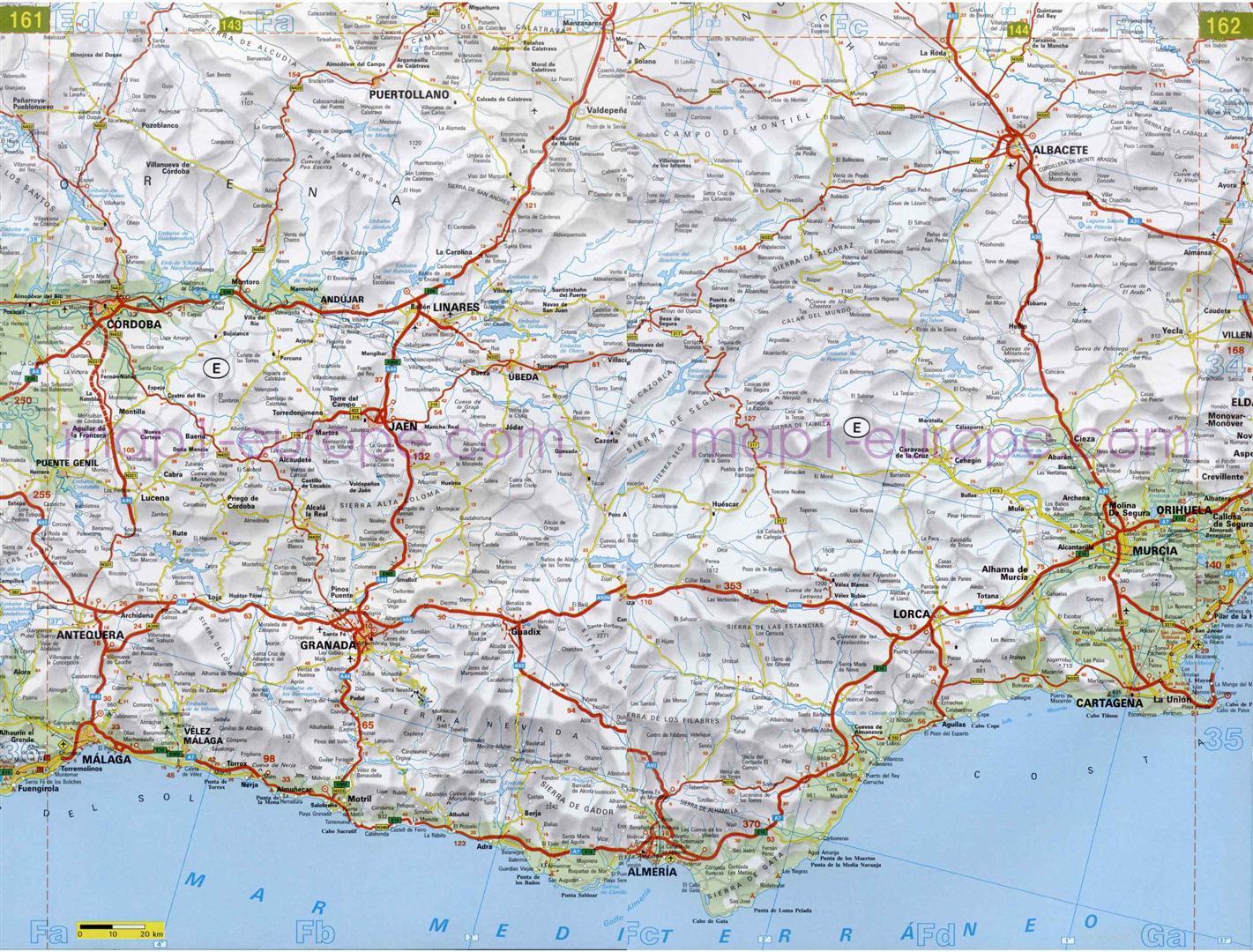 de carreteras en Andaluca  MapaCarreterasorg