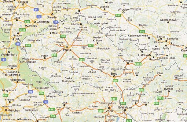 de autopistas de Repblica Checa  MapaCarreterasorg
