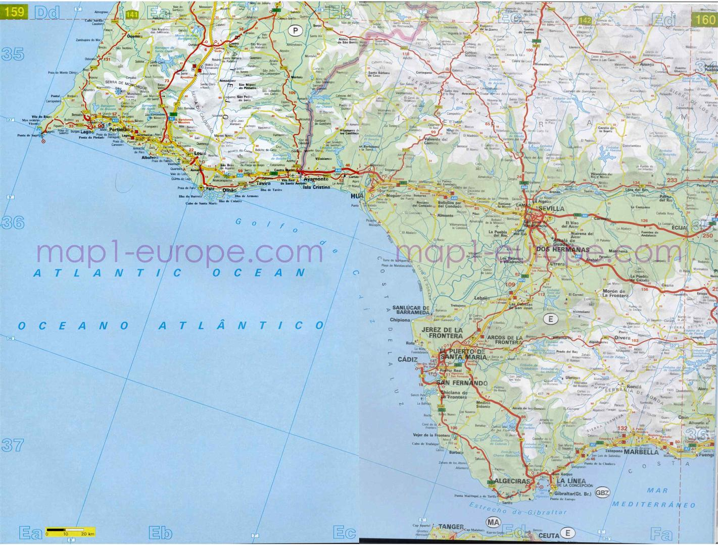 Gua de rutas de Huelva  MapaCarreterasorg