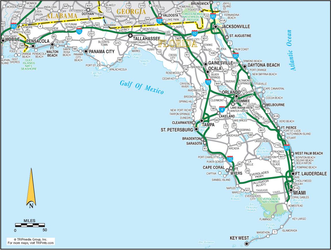 Mapa De Carreteras En Florida Mapacarreteras Org