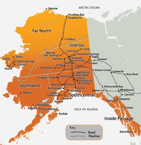 Capital De Alaska Mapa