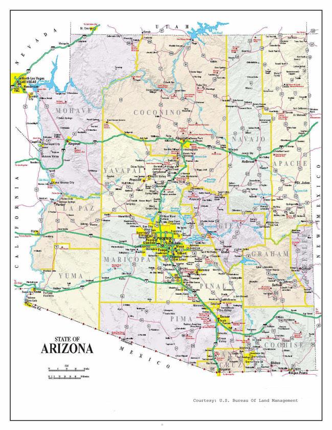 Mapa de Arizona   Metro Map   Bus Routes   Metrobus Way Map ...