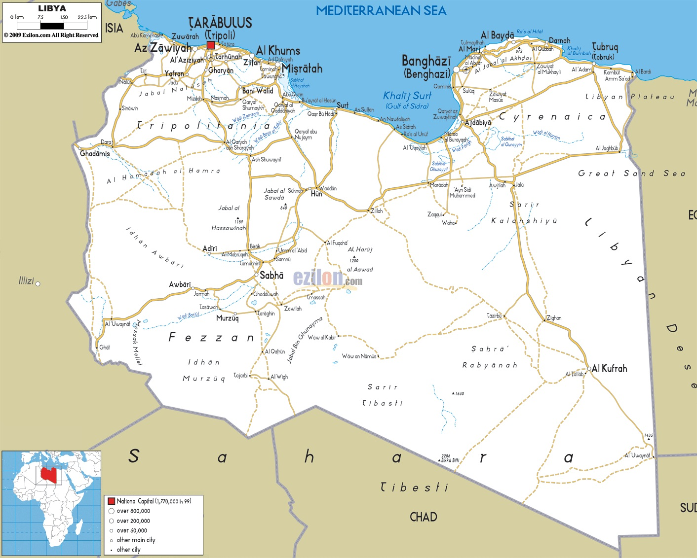 libia mapa Mapa de Libia ~ Online Map libia mapa