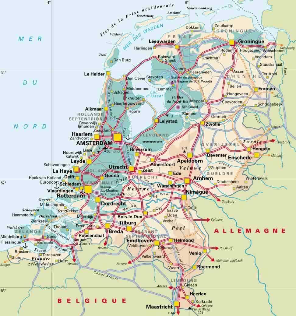 Mapa De Carreteras De Europa