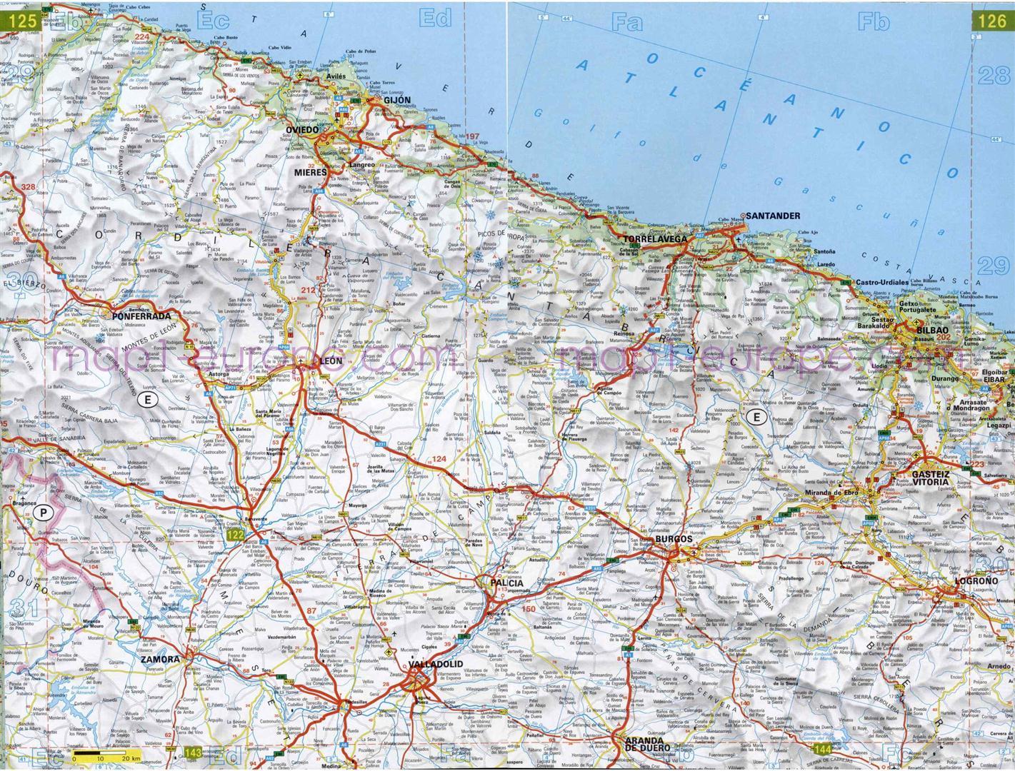 Mapa De Carreteras En Asturias Mapacarreteras Org