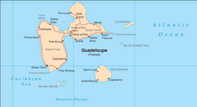 guadalupe mapa Guía de carreteras de Guadalupe   MapaCarreteras.org guadalupe mapa