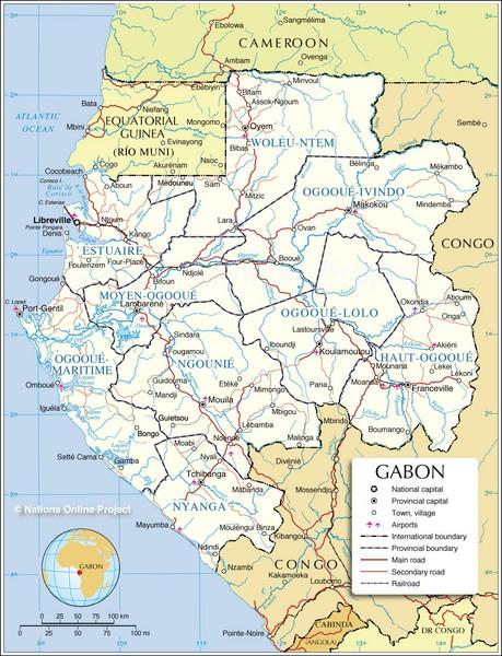 Guia De Autovias De Gabon Mapacarreteras Org