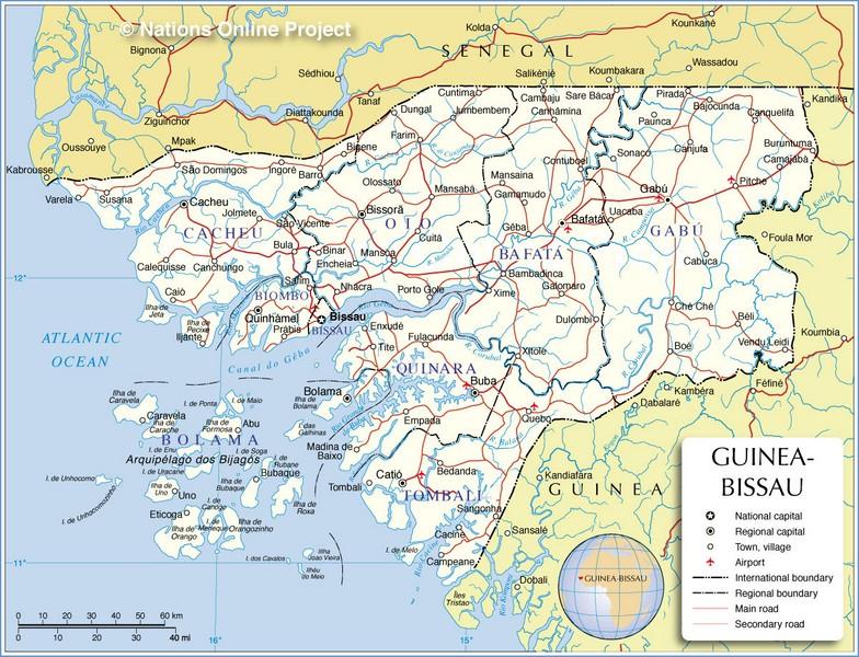 Guia De Autopistas En Guinea Bissau Mapacarreteras Org