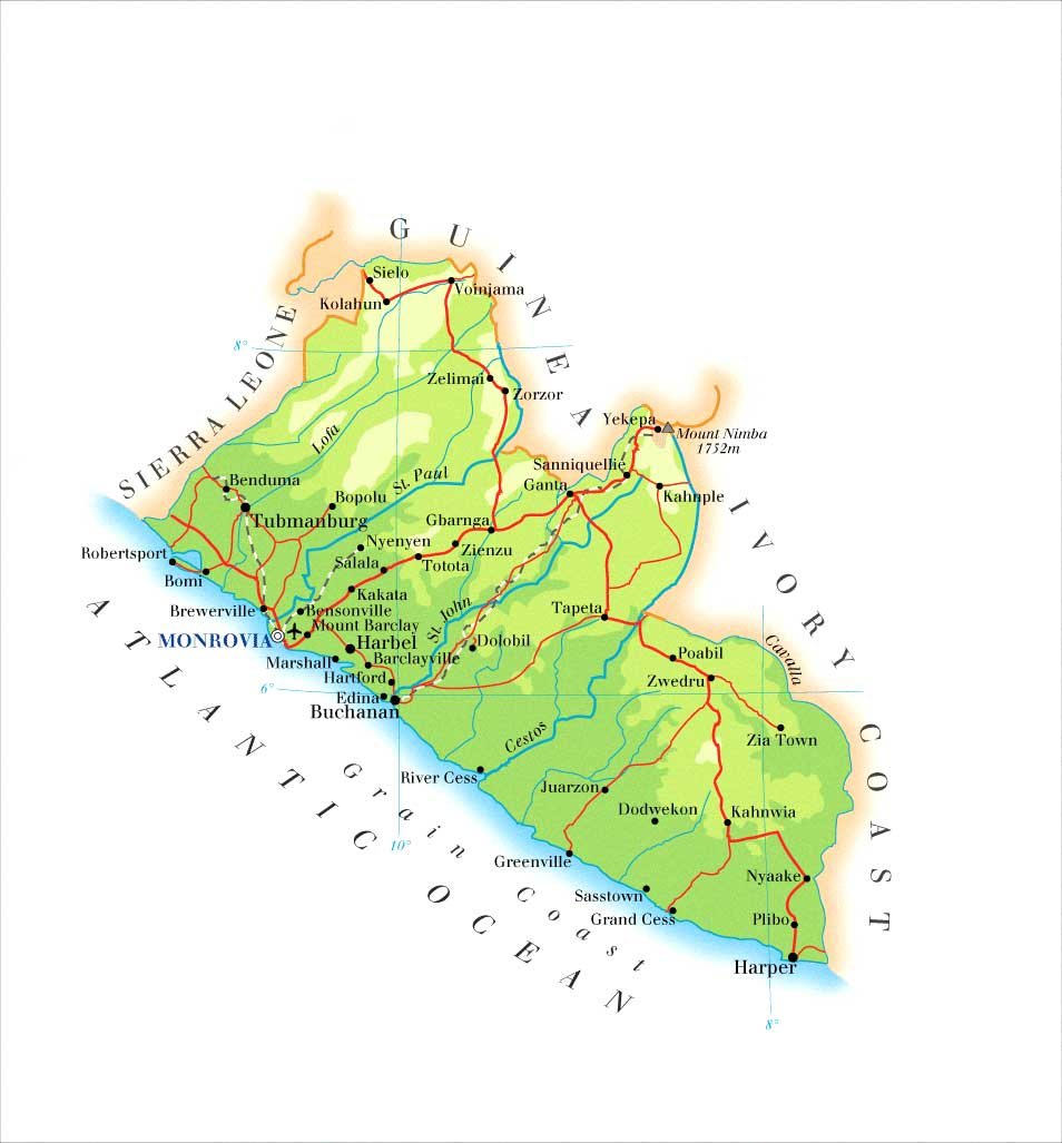 Worksheet. de rutas de Liberia  MapaCarreterasorg
