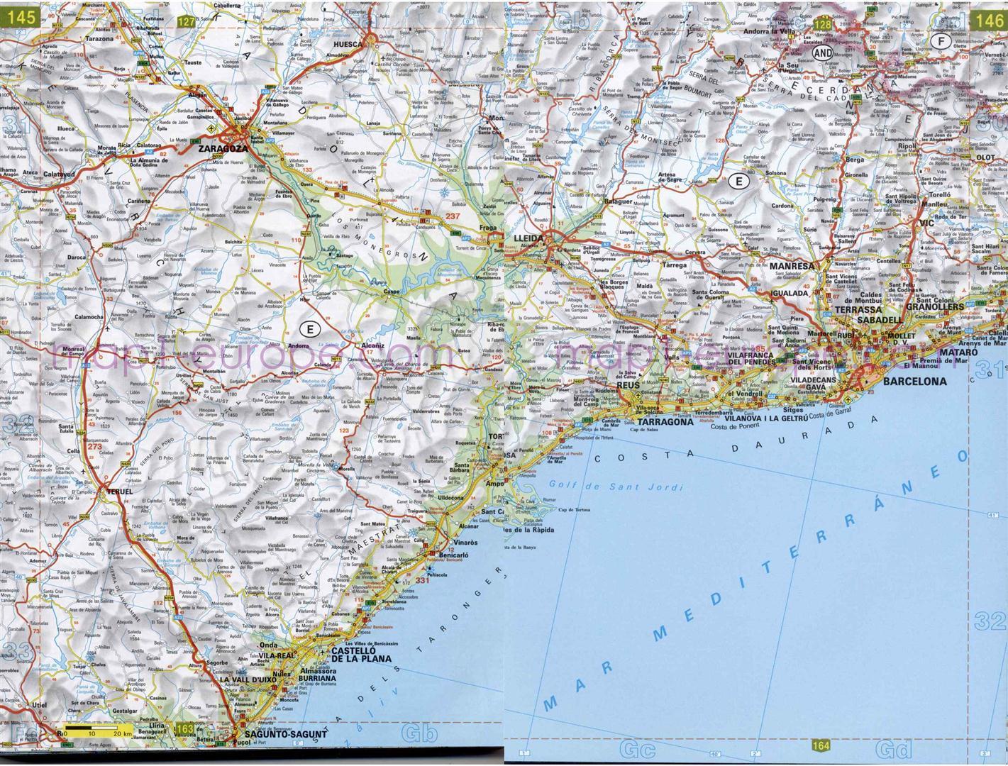 Guia De Vias En Lleida Mapacarreteras Org