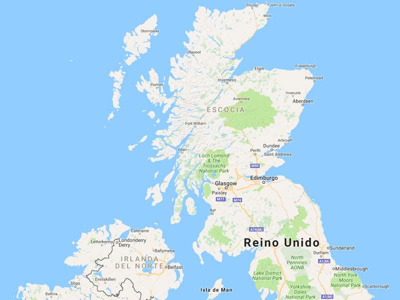 of roads in UK MapaCarreterasorg