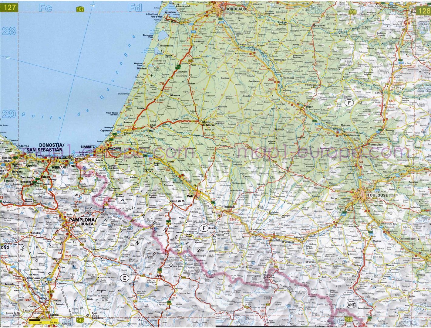 Plano De Autopistas En Guipuzcoa Mapacarreteras Org
