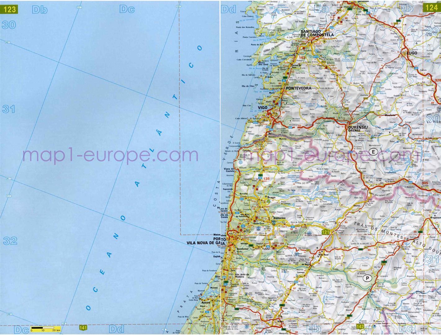 mapa de carreteras en galicia